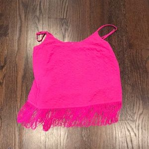 NWT Lilly Pulitzer fringe top XS